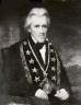 c. President Andrew Jackson<br>Seventh President of the United States, 1829 - 1837<br>(1829; 1830; 1831; 1832; 1833; 1834; 1835; 1836; 1837)<br><br>Grand Master of the Grand Lodge of Tennessee, serving from October 7, 1822 until October 1824.