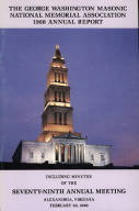 1988 Annual Report of the George Washington Masonic National Memorial Association including Minutes of the Seventy-ninth Annual Meeting