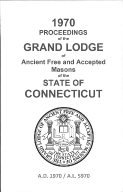 1970 Proceedings of the Grand Lodge of Ancient Free and Accepted Masons of the state of Connecticut