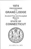 1974 Proceedings of the Grand Lodge of Ancient Free and Accepted Masons of the state of Connecticut