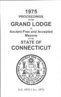 1975 Proceedings of the Grand Lodge of Ancient Free and Accepted Masons of the state of Connecticut