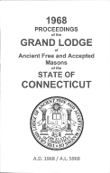 1968 Proceedings of the Grand Lodge of Ancient Free and Accepted Masons of the state of Connecticut