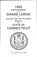1952 Proceedings of the Grand Lodge of Ancient Free and Accepted Masons of the state of Connecticut