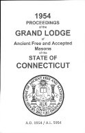 1954 Proceedings of the Grand Lodge of Ancient Free and Accepted Masons of the state of Connecticut