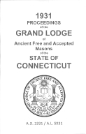 1931 Proceedings of the Grand Lodge of Ancient Free and Accepted Masons of the state of Connecticut