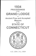 1934 Proceedings of the Grand Lodge of Ancient Free and Accepted Masons of the state of Connecticut
