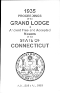 1935 Proceedings of the Grand Lodge of Ancient Free and Accepted Masons of the state of Connecticut