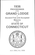 1936 Proceedings of the Grand Lodge of Ancient Free and Accepted Masons of the state of Connecticut