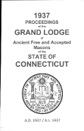 1937 Proceedings of the Grand Lodge of Ancient Free and Accepted Masons of the state of Connecticut