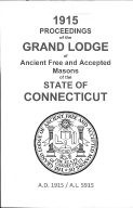 1915 Proceedings of the Grand Lodge of Ancient Free and Accepted Masons of the state of Connecticut