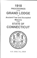 1918 Proceedings of the Grand Lodge of Ancient Free and Accepted Masons of the state of Connecticut