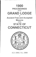 1900 Proceedings of the Grand Lodge of Ancient Free and Accepted Masons of the state of Connecticut