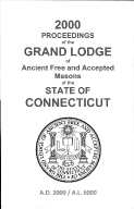 2000 Proceedings of the Grand Lodge of Ancient Free and Accepted Masons of the state of Connecticut