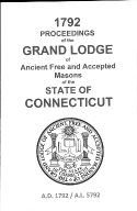 1792 Proceedings of the Grand Lodge of Ancient Free and Accepted Masons of the state of Connecticut