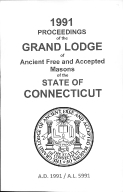 1991 Proceedings of the Grand Lodge of Ancient Free and Accepted Masons of the state of Connecticut