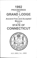 1992 Proceedings of the Grand Lodge of Ancient Free and Accepted Masons of the state of Connecticut