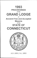 1993-1994 Proceedings of the Grand Lodge of Ancient Free and Accepted Masons of the state of Connecticut