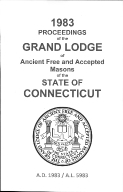 1983 Proceedings of the Grand Lodge of Ancient Free and Accepted Masons of the state of Connecticut