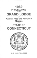 1989 Proceedings of the Grand Lodge of Ancient Free and Accepted Masons of the state of Connecticut