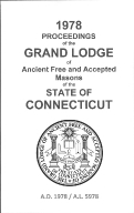 1978 Proceedings of the Grand Lodge of Ancient Free and Accepted Masons of the state of Connecticut