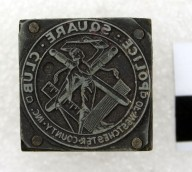 D66-2; Stamp block, Police Square Club