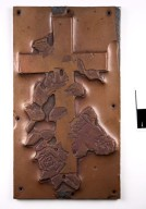 D76-9; Plate, relief matrix, Rose Croix