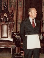 n. President Gerald R. Ford<br>Thirty-eighth President of the United States, 1974 - 1977<br>(1974; 1975; 1976; 1977)
