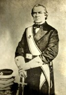 f. President Andrew Johnson<br>Seventeenth President of the United States, 1865 - 1869<br>(1865; 1866; 1867; 1868; 1869)<br><br>Andrew Johnson was the first President to receive the Scottish Rite Degrees, which were communicated at the White House on June 20, 1867. (Barrett, 1939)