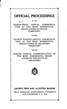 1916 - Proceedings of the Grand Lodge of the State of Oklahoma - Eighth Annual Grand Communication