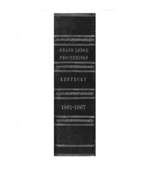 1865 - Proceedings of the Grand Lodge, F. & A.M., of Kentucky