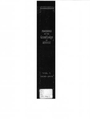 1804 - Proceedings of the Grand Lodge, F. & A.M., of Kentucky