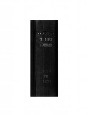 1815 - Proceedings of the Grand Lodge, F. & A.M., of Kentucky