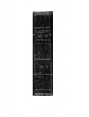 1829 - Proceedings of the Grand Lodge, F. & A.M., of Kentucky