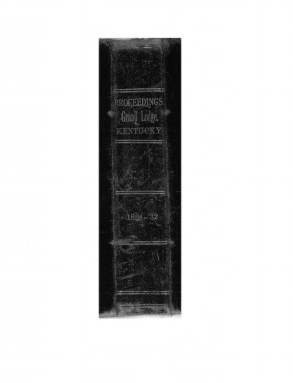 1831 - Proceedings of the Grand Lodge, F. & A.M., of Kentucky