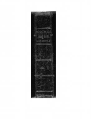 1832 - Proceedings of the Grand Lodge, F. & A.M., of Kentucky