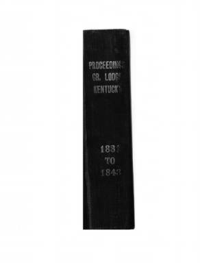 1837 - Proceedings of the Grand Lodge, F. & A.M., of Kentucky