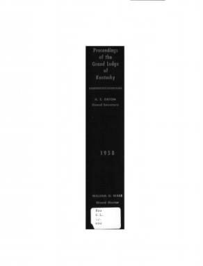 1958 - Proceedings of the Grand Lodge, F. & A.M., of Kentucky