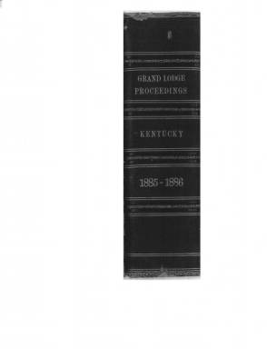 1885 - Proceedings of the Grand Lodge, F. & A.M., of Kentucky