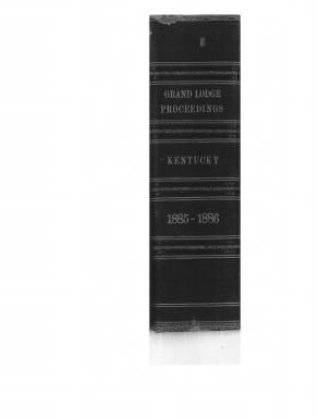 1886 - Proceedings of the Grand Lodge, F. & A.M., of Kentucky