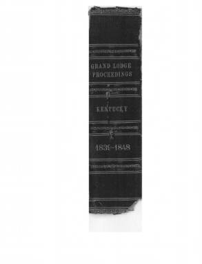 1839 - Proceedings of the Grand Lodge, F. & A.M., of Kentucky