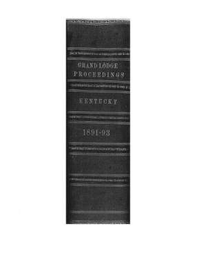 1892 - Proceedings of the Grand Lodge, F. & A.M., of Kentucky