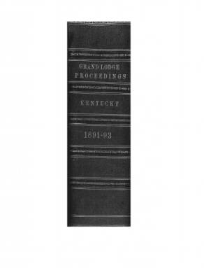 1893 - Proceedings of the Grand Lodge, F. & A.M., of Kentucky
