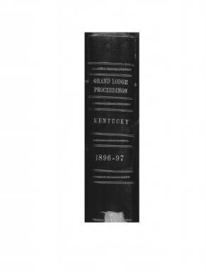 1896 - Proceedings of the Grand Lodge, F. & A.M., of Kentucky