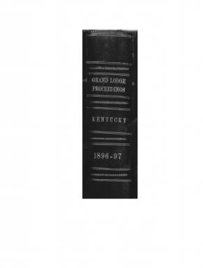 1897 - Proceedings of the Grand Lodge, F. & A.M., of Kentucky
