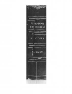 1898 - Proceedings of the Grand Lodge, F. & A.M., of Kentucky