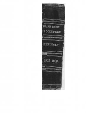 1902 - Proceedings of the Grand Lodge, F. & A.M., of Kentucky