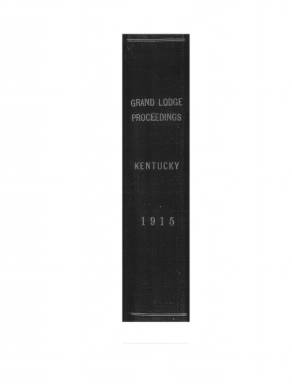 1915 - Proceedings of the Grand Lodge, F. & A. M., of Kentucky