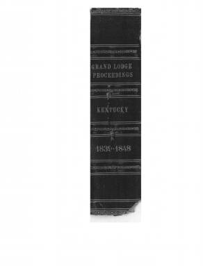 1841 - Proceedings of the Grand Lodge, F. & A.M., of Kentucky