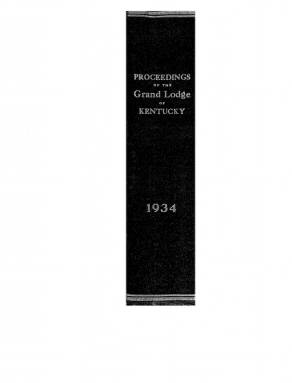 1934 - Proceedings of the Grand Lodge, F. & A.M., of Kentucky