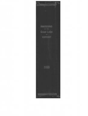 1950 - Proceedings of the Grand Lodge, F. & A.M., of Kentucky